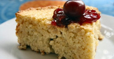 Túrós - köleses süti