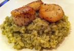 pestós rizottó kagylóval diétás recept