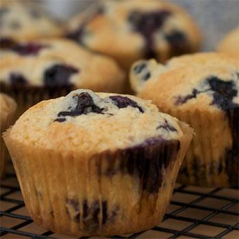 áfonyás muffin, diétás recept