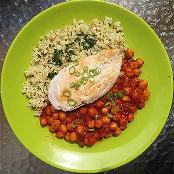 csicseriborsó és csirkemell recept