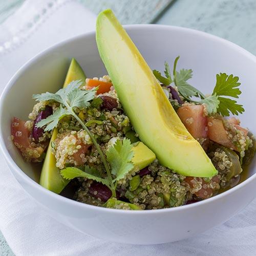 quinoa saláta vegan recept