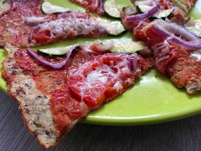 szupervékony karfiolpizza tészta