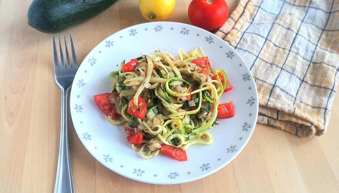 Diétás és vegan cukkinispagetti recept
