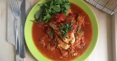 CSirkemell bolognai zöldségraguval- olaszos recept