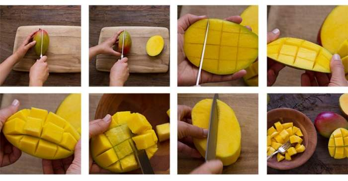 mango felszeletelése
