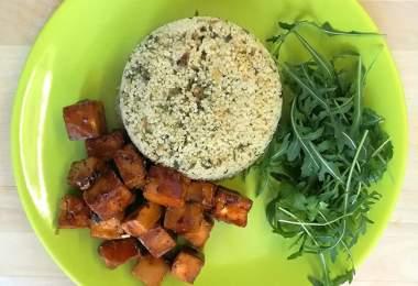 Tofu és kuszkusz - vegan recept
