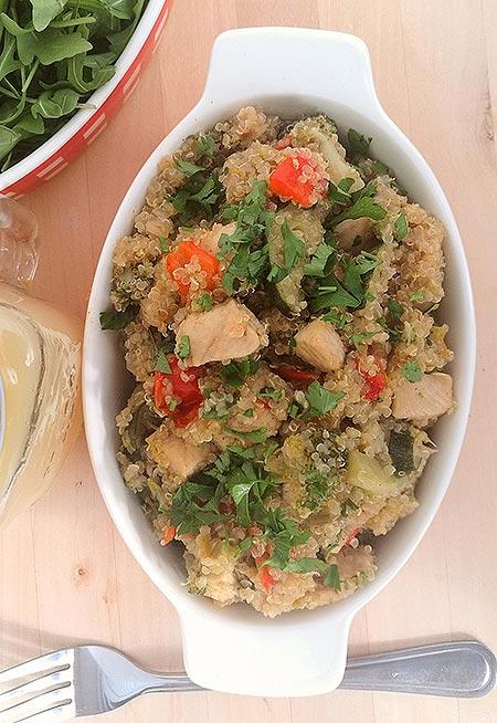 Fitt quinoa tál