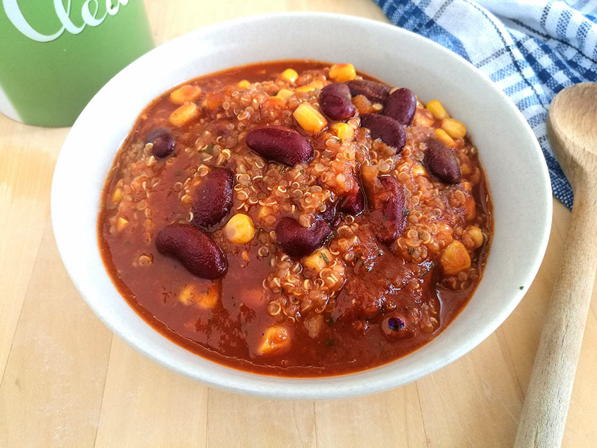 chillis bab quinoával
