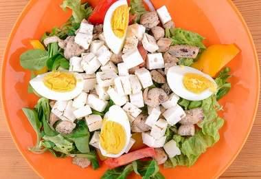 saláta recept testépítőknek