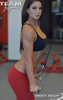 Horváth Frida IFBB Fintess model