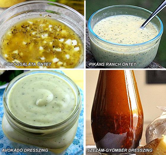 Egészséges saláta öntet receptek házilag